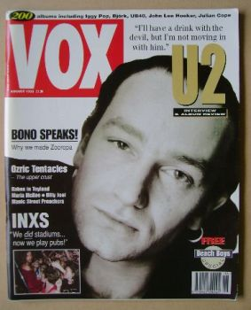 VOX magazine - Bono cover (August 1993 - Issue 35)