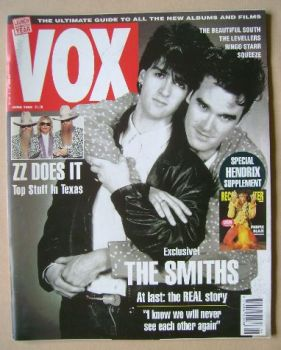 VOX magazine - Johnny Marr and Morrissey cover (June 1992 - Issue 21)