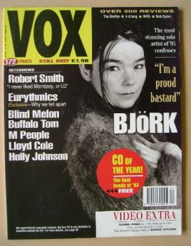 VOX magazine - Bjork cover (December 1993 - Issue 39)