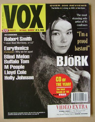 <!--1993-12-->VOX magazine - Bjork cover (December 1993 - Issue 39)
