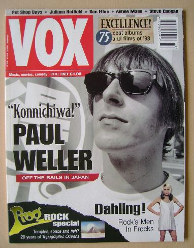 <!--1994-01-->VOX magazine - Paul Weller cover (January 1994 - Issue 40)