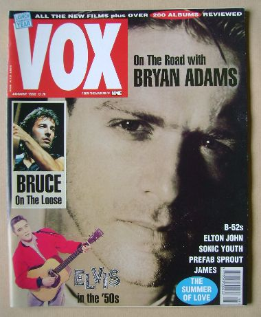 <!--1992-08-->VOX magazine - Bryan Adams cover (August 1992 - Issue 23)