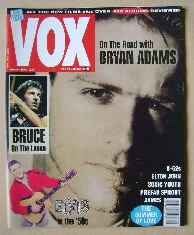 <!--1992-08-->VOX magazine - Bryan Adams cover (August 1992 - Issue 23)