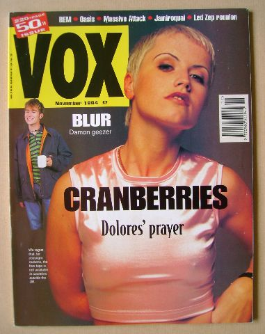 <!--1994-11-->VOX magazine - Dolores O'Riordan cover (November 1994 - Issue