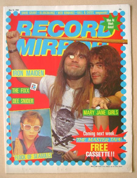 <!--1983-05-14-->Record Mirror magazine - Bruce Dickinson and Steve Harris