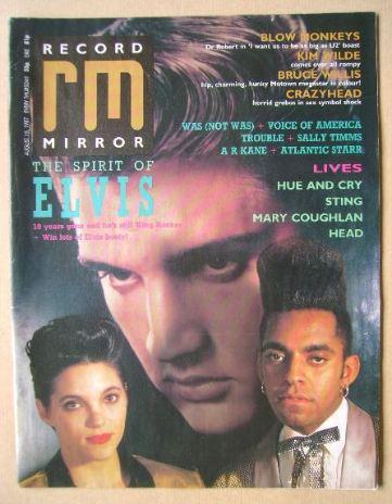 <!--1987-08-15-->Record Mirror magazine - 15 August 1987