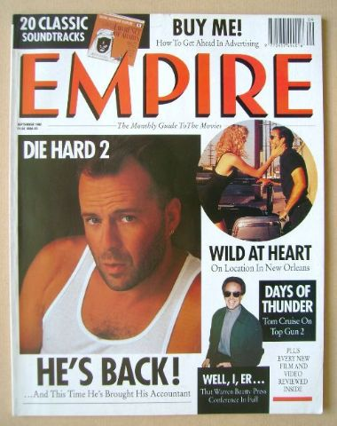 <!--1990-09-->Empire magazine - Bruce Willis cover (September 1990 - Issue