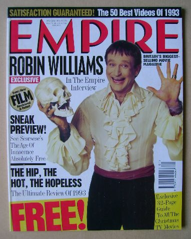 <!--1994-01-->Empire magazine - Robin Williams cover (January 1994 - Issue