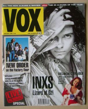 <!--1992-01-->VOX magazine - Michael Hutchence cover (January 1992 - Issue