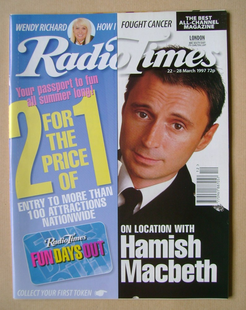 <!--1997-03-22-->Radio Times magazine - Robert Carlyle cover (22-28 March 1