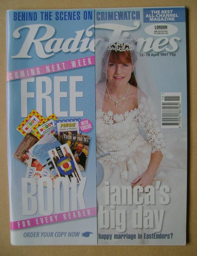 <!--1997-04-12-->Radio Times magazine - Patsy Palmer cover (12-18 April 199