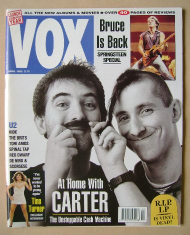 <!--1992-04-->VOX magazine - Carter USM cover (April 1992 - Issue 19)