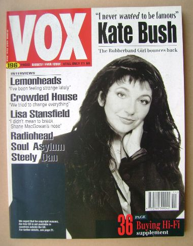 <!--1993-11-->VOX magazine - Kate Bush cover (November 1993 - Issue 38)