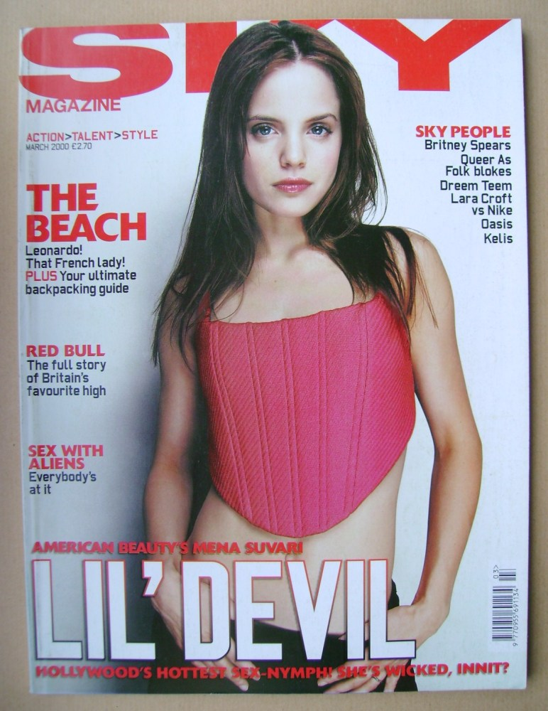 <!--2000-03-->Sky magazine - Mena Suvari cover (March 2000)
