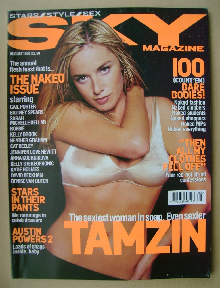 <!--1999-08-->Sky magazine - Tamzin Outhwaite cover (August 1999)