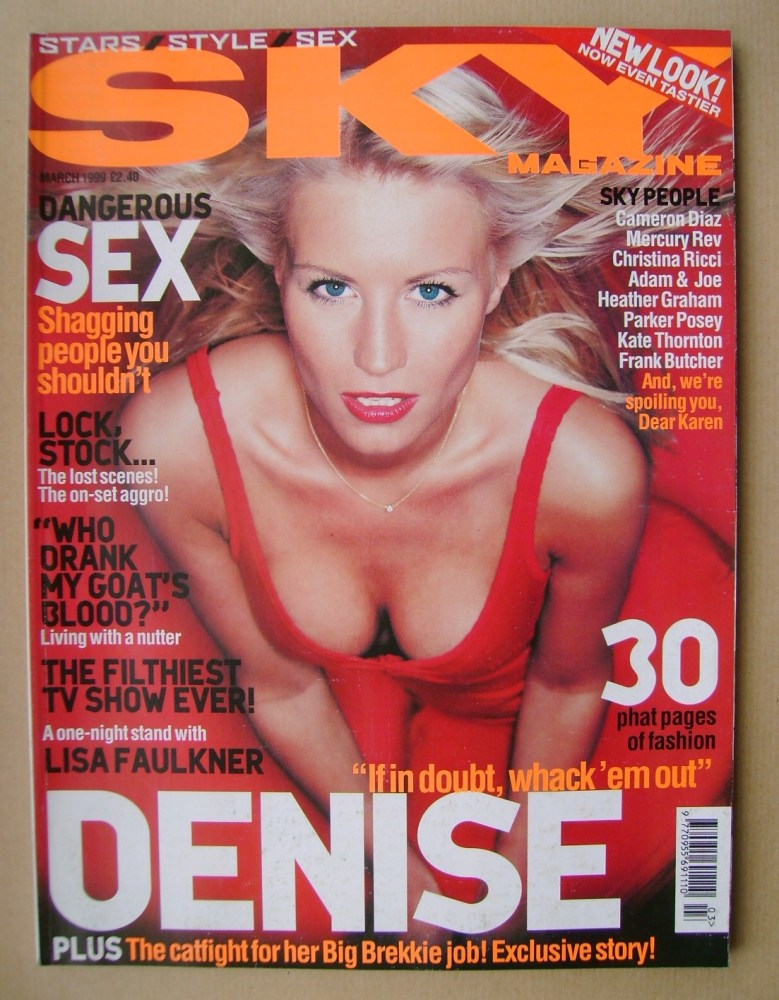 <!--1999-03-->Sky magazine - Denise Van Outen cover (March 1999)