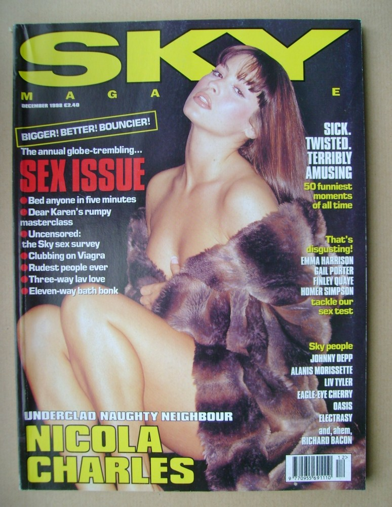 <!--1998-12-->Sky magazine - Nicola Charles cover (December 1998)