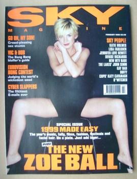 Sky magazine - Zoe Ball cover (February 1999)
