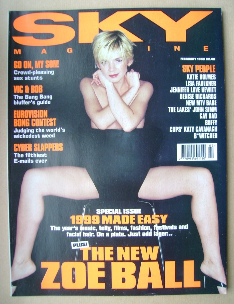 <!--1999-02-->Sky magazine - Zoe Ball cover (February 1999)