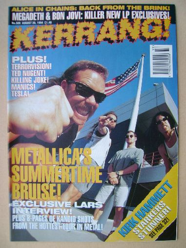 <!--1994-08-20-->Kerrang magazine - Metallica cover (20 August 1994 - Issue