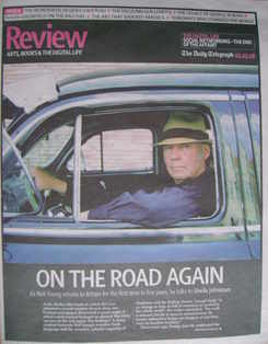 The Daily Telegraph Review newspaper supplement - 1 March 2008 - Neil Young