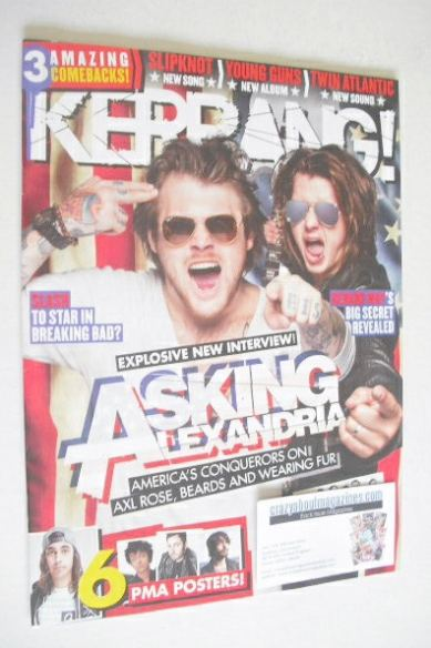 <!--2014-08-09-->Kerrang magazine - Asking Alexandria cover (9 August 2014