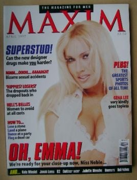 MAXIM magazine - Emma Noble cover (April 1997)