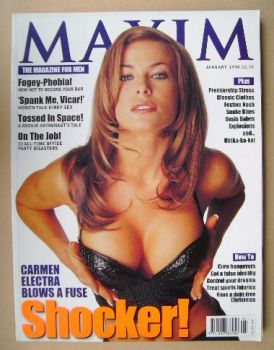 MAXIM magazine - Carmen Electra cover (January 1998)