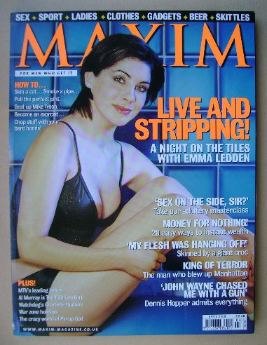 <!--2000-04-->MAXIM magazine - Emma Ledden cover (April 2000)
