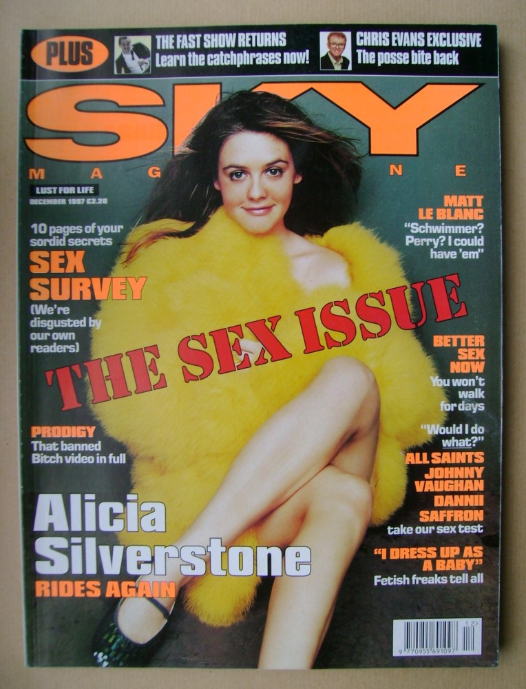 <!--1997-12-->Sky magazine - Alicia Silverstone cover (December 1997)