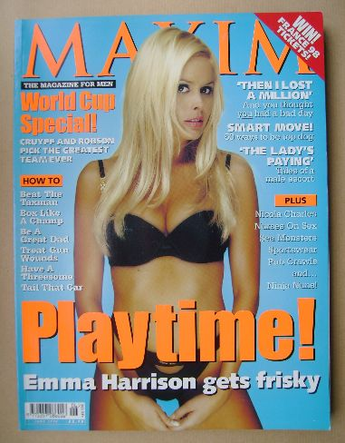 <!--1998-06-->MAXIM magazine - Emma Harrison cover (June 1998)