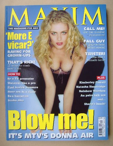 <!--1998-10-->MAXIM magazine - Donna Air cover (October 1998)