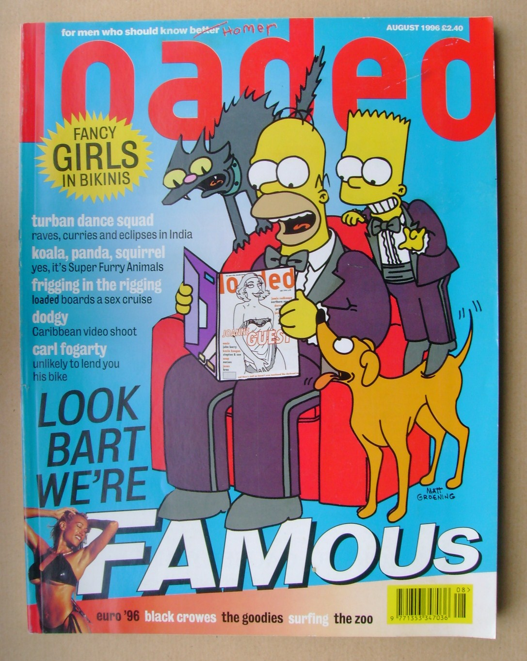 Loaded Magazine The Simpsons Cover August 1996