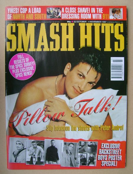 <!--1997-10-22-->Smash Hits magazine - Peter Andre cover (22 October - 4 No