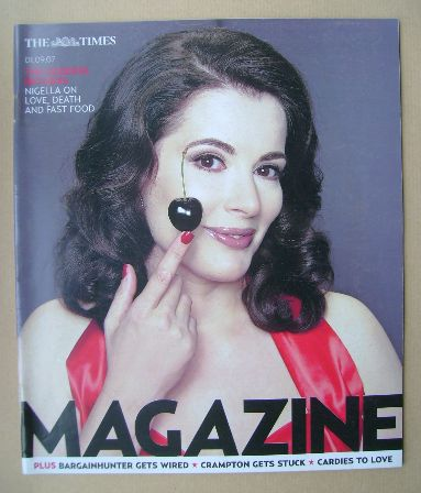<!--2007-09-01-->The Times magazine - Nigella Lawson cover (1 September 200