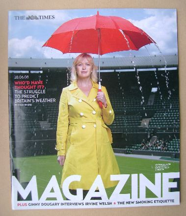 <!--2008-06-28-->The Times magazine - Carol Kirkwood cover (28 June 2008)