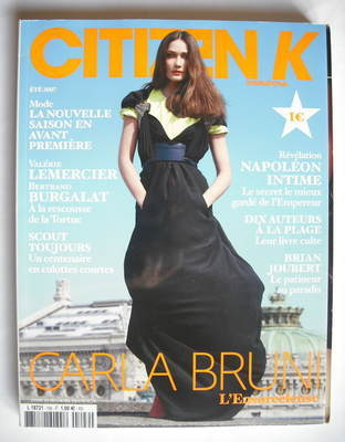 <!--2007-08-->Citizen K magazine - Summer 2007 - Carla Bruni cover