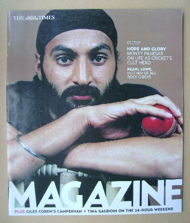 <!--2007-07-07-->The Times magazine - Monty Panesar cover (7 July 2007)
