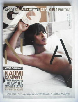 British GQ magazine - April 2007 - Naomi Campbell cover