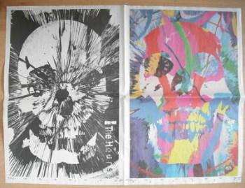 Damien Hirst newspaper print