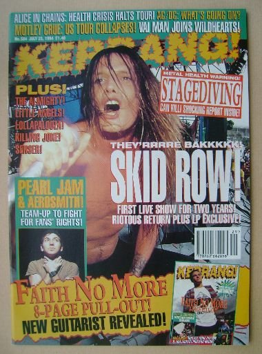 <!--1994-07-23-->Kerrang magazine - 23 July 1994 (Issue 504)