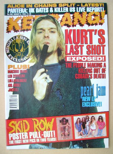 <!--1994-08-06-->Kerrang magazine - Kurt Cobain cover (6 August 1994 - Issu