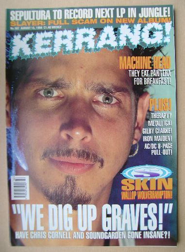 <!--1994-08-13-->Kerrang magazine - Chris Cornell cover (13 August 1994 - I