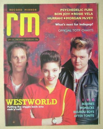 <!--1987-01-31-->Record Mirror magazine - Westworld cover (31 January 1987)