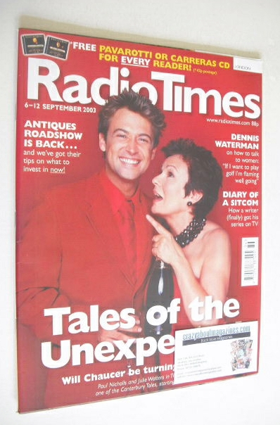 <!--2003-09-06-->Radio Times magazine - Paul Nicholls and Julie Walters cov