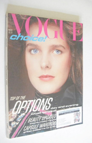<!--1981-11-->British Vogue magazine - November 1981 (Vintage Issue)
