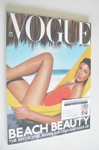 <!--2000-06-->British Vogue magazine - June 2000 - Liberty Ross cover