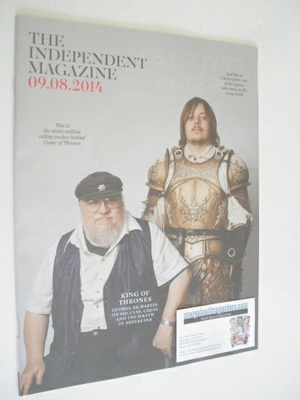The Independent magazine - George RR Martin cover (9 August 2014)
