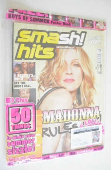 <!--2001-07-11-->Smash Hits magazine - Madonna cover (11 July 2001)
