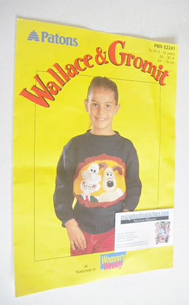 Wallace and Gromit Sweater Knitting Pattern (Patons PBN E2241) (Child Size)